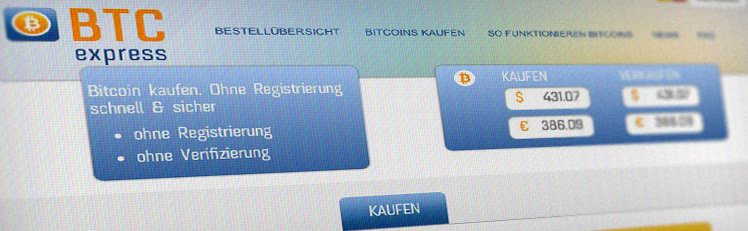 Erfahrung: Bitcoin kaufen auf BTCexpress