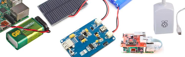 Raspberry Pi mit Stromversorgung Solar,LiPo, Akku, Batter, Netzteil, Powerbank