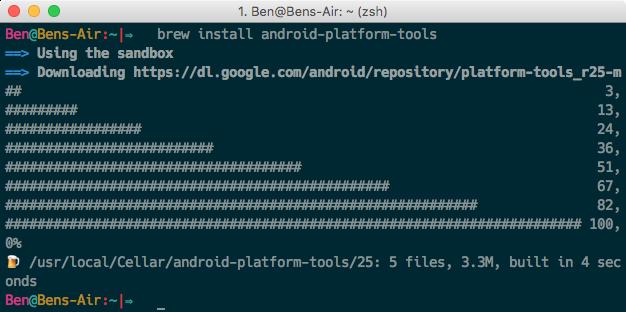 Android Platform Tools auf Mac OSX installieren mit Brew