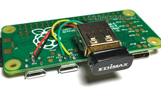 Raspberry Pi Zero USB Type-A Buchse Female add erweitern anlöten EDIMAX EW-7811UN