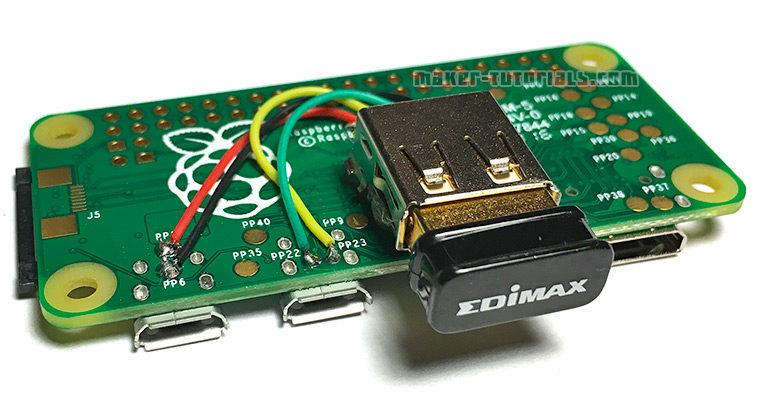 Raspberry Pi Zero mit USB Buchse Typ-A erweitern (anlöten