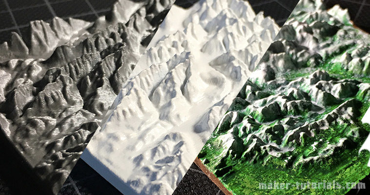 Create Your Own 3D Printed Topographical Map - mini mountain