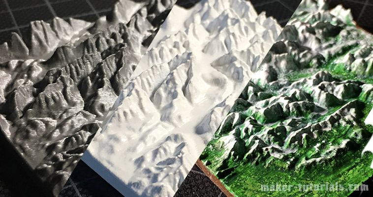 create your own 3d printed topographical map