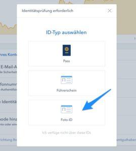 Foto ID Ausweis verifizieren - coinbase binance tron ripple verge bitcoin ethereum einfach kaufen