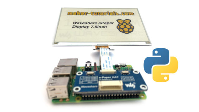 Raspberry Pi Waveshare e-paper display python demo code installieren