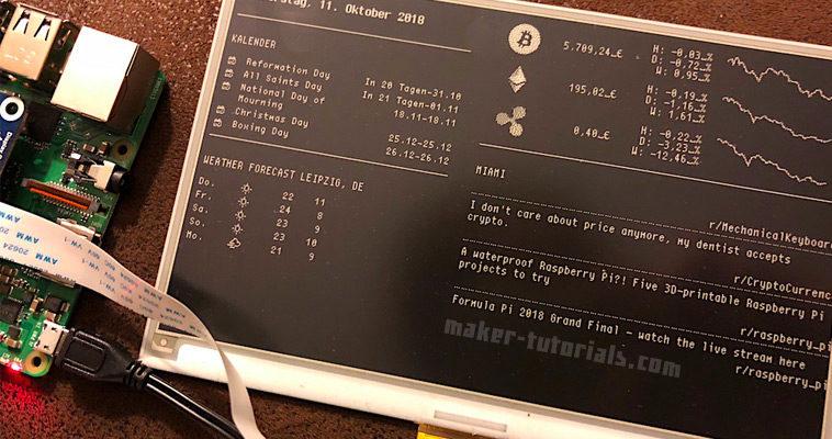 MagicMirror eink epaper Display Raspberry Pi Zero W