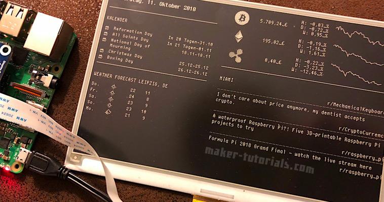 MagicMirror 7 5 eInk/ePaper Bilderrahmen mit einem Raspberry Pi Zero